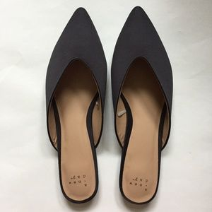 A New Day Black Satin Mules